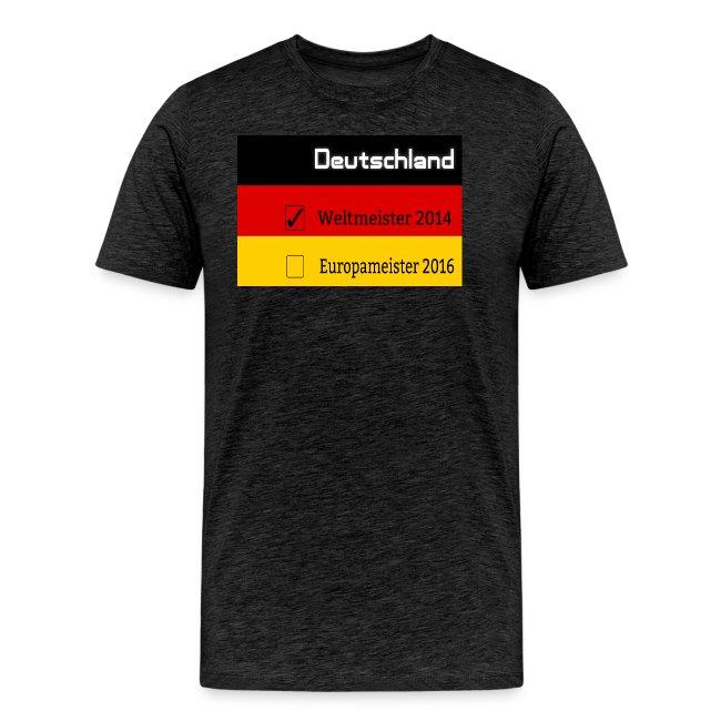 Deutschland Weltmeister Europameister 2016 Flagge