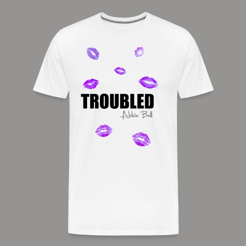 TROUBLED KISSES - White T-shirt - Men's Premium T-Shirt