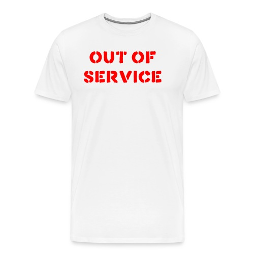 outofservice red - Men's Premium T-Shirt