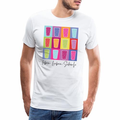 Leben, Lieben, Schorle - Männer Premium T-Shirt
