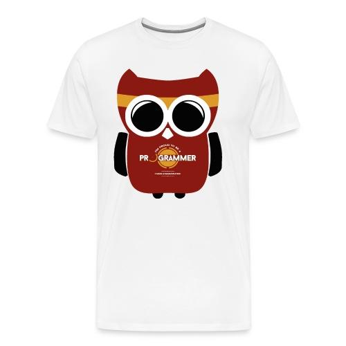 Programmer Eule - Männer Premium T-Shirt