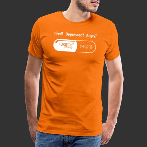 Tired Fuck it all with Fukitol - Premium-T-shirt herr