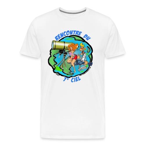 7ciel texte bleu - T-shirt Premium Homme
