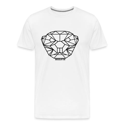 DusselOtter Logo schwarz - Men's Premium T-Shirt