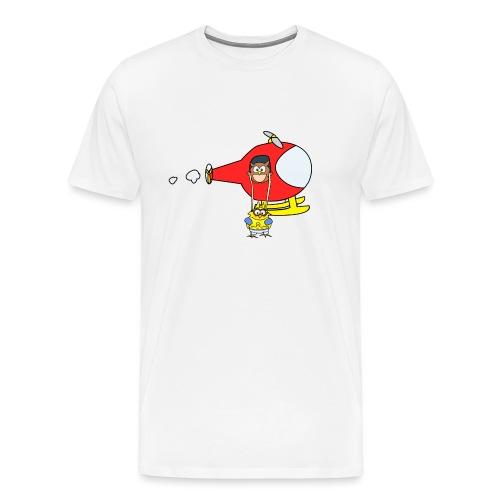 Body manche longue super-héros Blanc - T-shirt Premium Homme