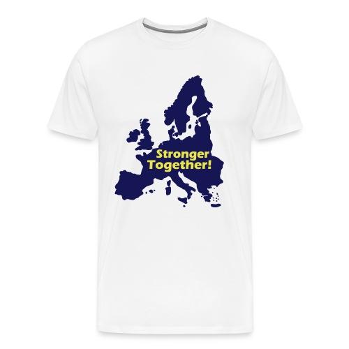 Europe Stronger Together Hoodie - Männer Premium T-Shirt