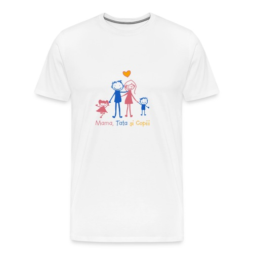 mama tata si copiii - Men's Premium T-Shirt