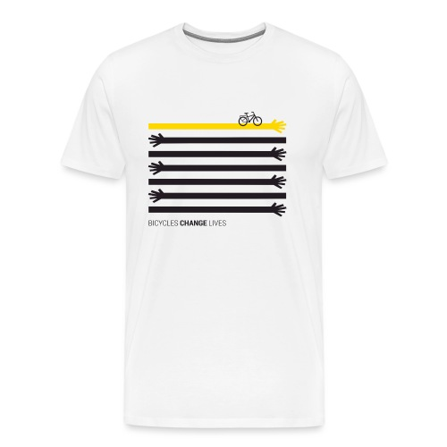 BCL Black Hands One Yellow - Men's Premium T-Shirt