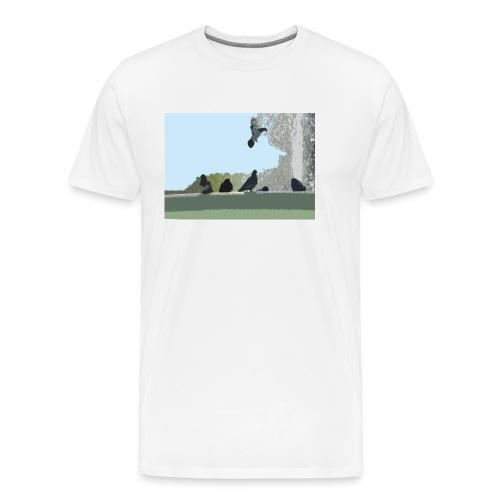 Chillin' pigeons - Mannen Premium T-shirt