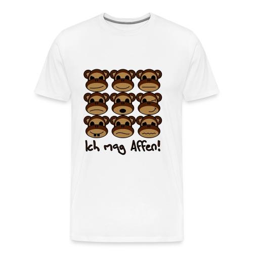 Ich mag Affen - Männer Premium T-Shirt