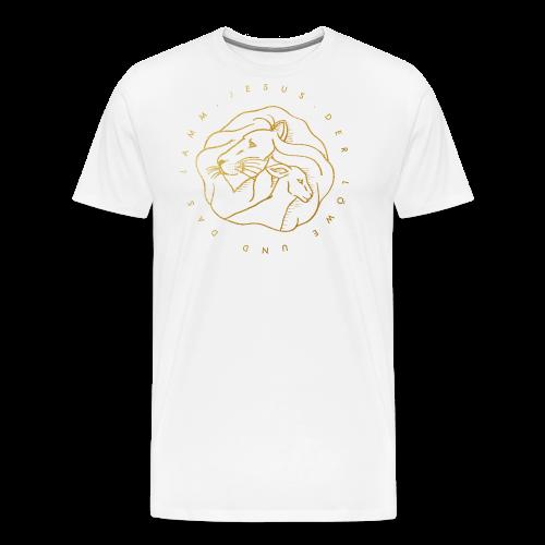 Löwe & Lamm (Motiv 2) - Männer Premium T-Shirt