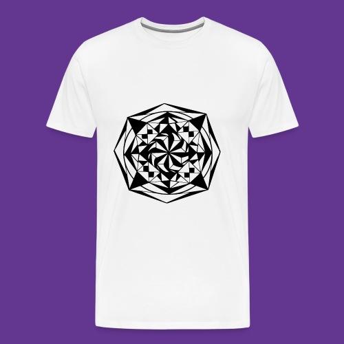 Geometrie Mandala Muster - Männer Premium T-Shirt