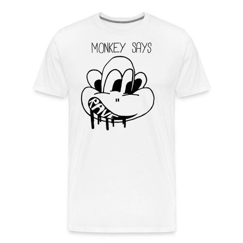 Monkey Says Rave - Men's Premium T-Shirt