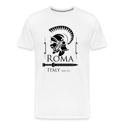 Legionario Romano con Elmetto - Maglietta Premium da uomo