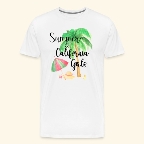 California Girl at Beach - Männer Premium T-Shirt