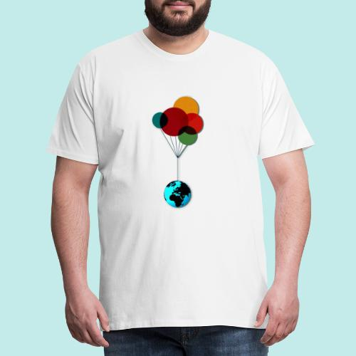 EARTH & BALLOONS - T-shirt Premium Homme