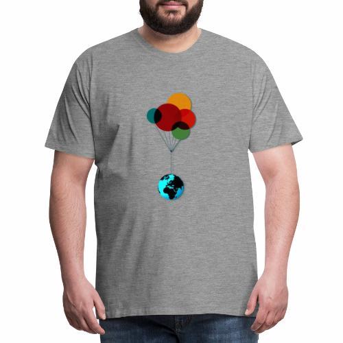 EARTH & BALLOONS - T-shirt Premium Homme