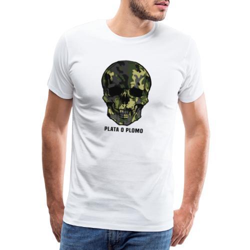 Colombian skull - plata o plomo - Männer Premium T-Shirt