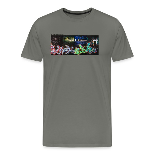 Stick Was Here 0.2 - Herre premium T-shirt