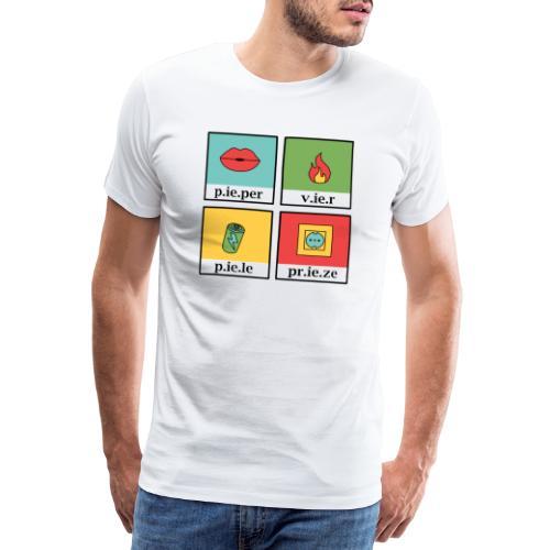 west vlaams 1 pieper vier piele prieze - Mannen Premium T-shirt
