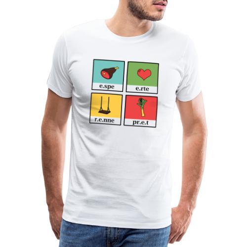 west vlaams 1 espe erte renne pret - Mannen Premium T-shirt
