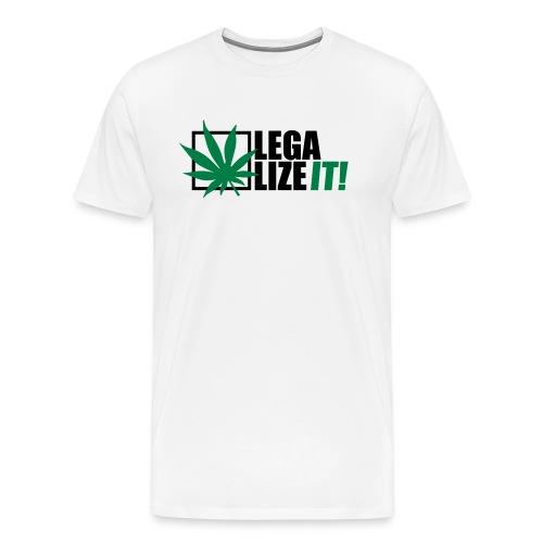 Marihuana Legalize it Cannabis Kiffen Shit - Men's Premium T-Shirt