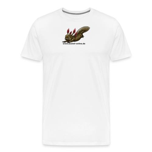 Axolotlshirt Männlein 1.png - Männer Premium T-Shirt