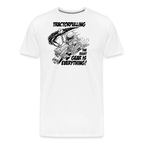 0966 tractorpulling BW - Mannen Premium T-shirt