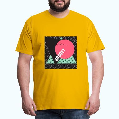 Groovy Retro Vintage - Men's Premium T-Shirt