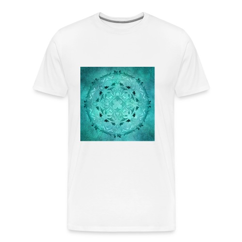 mandala floreale turchese - Maglietta Premium da uomo