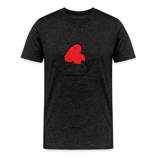 Cat Love - Mannen Premium T-shirt