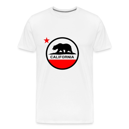 California Circle Flag - Men's Premium T-Shirt