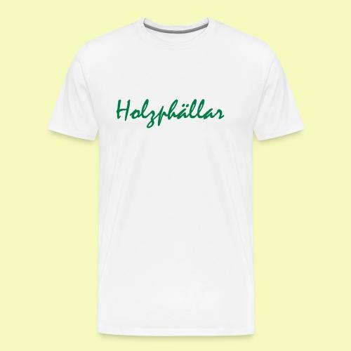 Schriftzug Grün - Männer Premium T-Shirt
