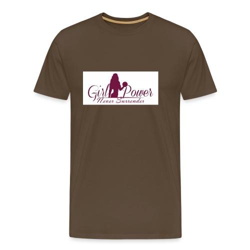GIRL POWER NEVER SURRENDER - Camiseta premium hombre