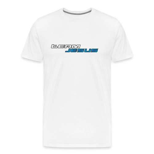 Team Jesus Racing Sport Logo White Blue - Koszulka męska Premium
