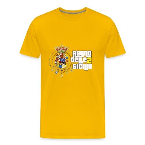 regno delle 2 sicilie testo bianco - Maglietta Premium da uomo