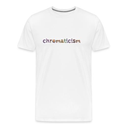 chromaticism logo tee (f) - Men's Premium T-Shirt