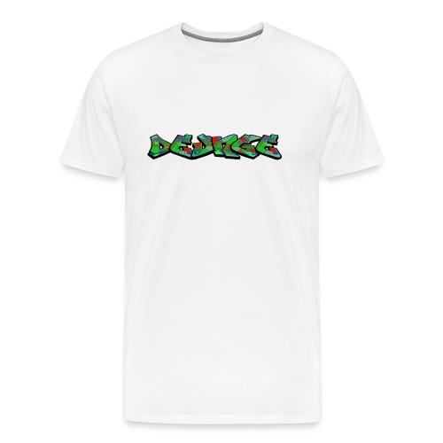 DE_UNGE_LOGO-png - Herre premium T-shirt