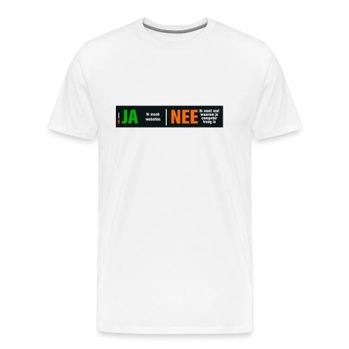 Ja ik maak websites - Mannen Premium T-shirt