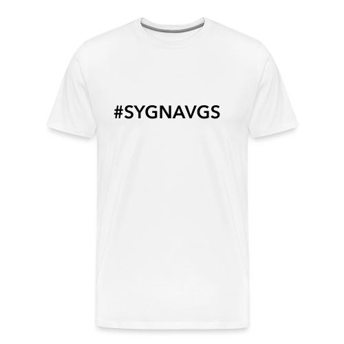 sygnaspreadhvit - Premium T-skjorte for menn