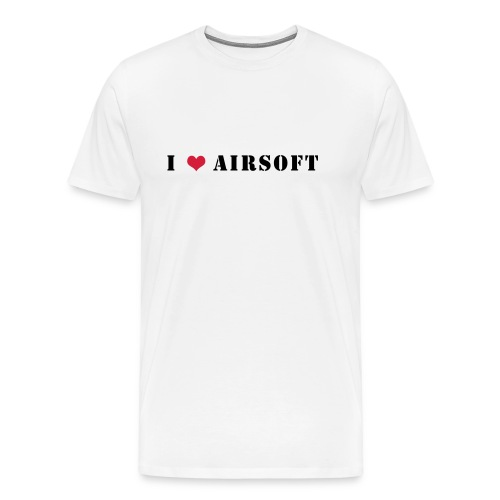 I Love Airsoft Long - T-shirt Premium Homme