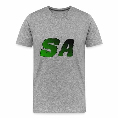 Grön SA Logo - Premium-T-shirt herr