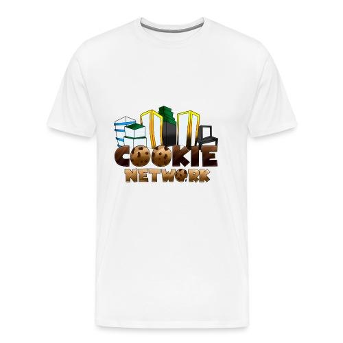 Cookienetwork logo - Mannen Premium T-shirt