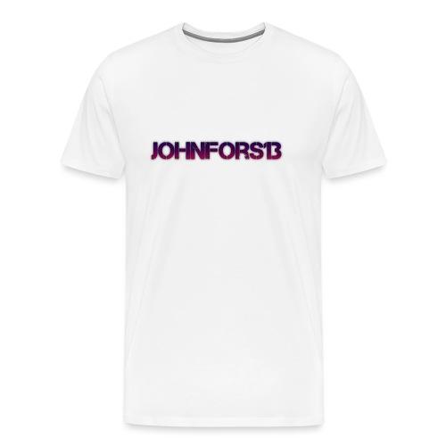 JohnFors13 Logo - Premium-T-shirt herr