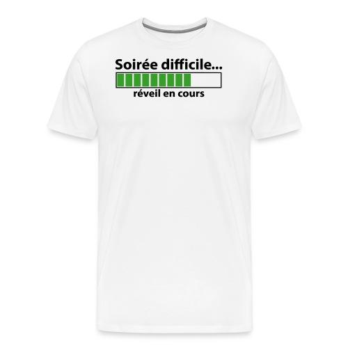 soirée difficile réveil en cours - T-shirt Premium Homme