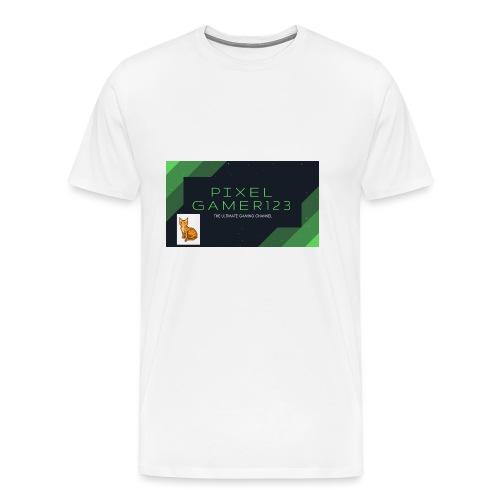 PIXEL GAMER123 HEADER - Men's Premium T-Shirt