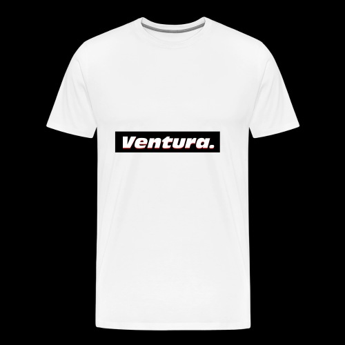 Ventura Black Logo - Mannen Premium T-shirt