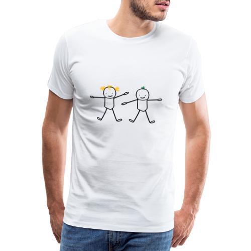 Deux frère et soeur (cheveux personnalisables) - T-shirt Premium Homme