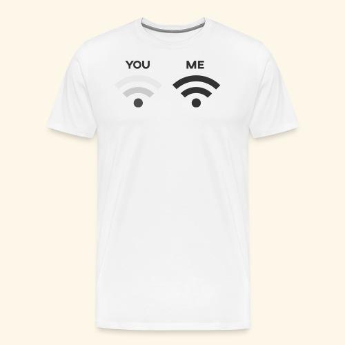 You vs. Me, Bad Wifi - Men's Premium T-Shirt