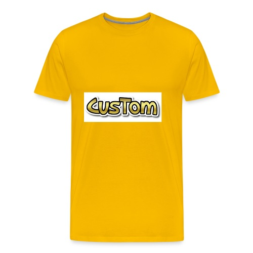 CusTom GOLD LIMETED EDITION - Mannen Premium T-shirt